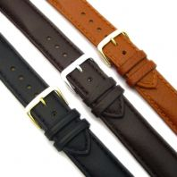 Half-Padded Calf Leather Watch Strap  Buffalo Grain 18mm - 22mm C012
